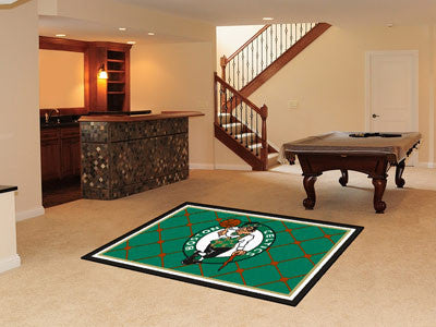 NBA Officially licensed products Boston Celtics 5'x8' Rug Show off your team pride in a big way! 5'x8' ultra plush area rugs