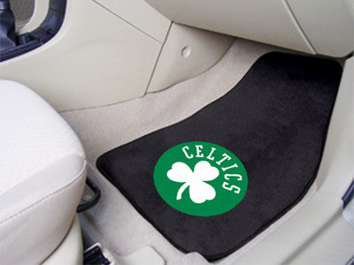 "NBA Officially licensed products Boston Celtics 2-pc Carpeted Car Mats 17""x27"" Show your fandom even while driving with Carp"