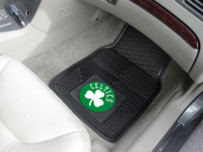 "NBA Officially licensed products Boston Celtics  2-pc Vinyl Car Mats 17""x27"" Add style to your ride with heavy duty Vinyl Ca"