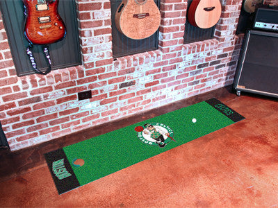 "NBA Officially licensed products Boston Celtics Putting Green Mat 18""x72"" Become a pro and perfect your short game with Golf"