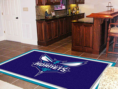 NBA Officially licensed products Charlotte Hornets Rug Show off your team pride in a big way! 5'x8' ultra plush area rugs wo