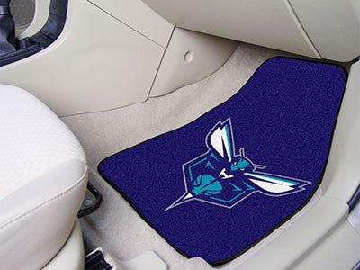"NBA Officially licensed products Charlotte Hornets 2-pc Carpeted Car Mats 17""x27"" Show your fandom even while driving with C"