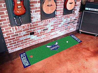 "NBA Officially licensed products Charlotte Hornets Putting Green Runner 18""x72"" Become a pro and perfect your short game wit"