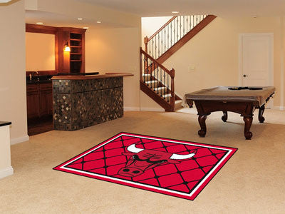 NBA Officially licensed products Chicago Bulls 5'x8' Rug Show off your team pride in a big way! 5'x8' ultra plush area rugs