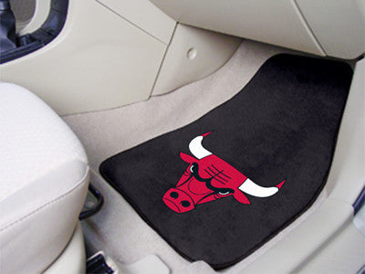 "NBA Officially licensed products Chicago Bulls 2-pc Carpeted Car Mats 17""x27"" Show your fandom even while driving with Carpe"