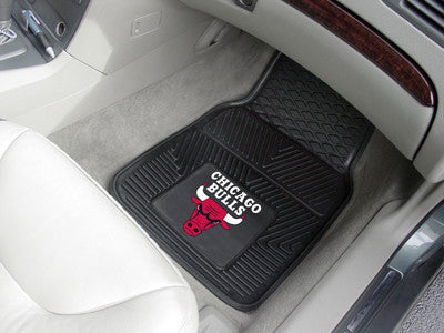 "NBA Officially licensed products Chicago Bulls 2-pc Vinyl Car Mats 17""x27"" Add style to your ride with heavy duty Vinyl Car"