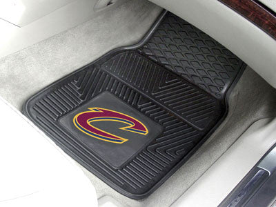 "NBA Officially licensed products Cleveland Cavaliers 2-pc Vinyl Car Mats 17""x27"" Add style to your ride with heavy duty Viny"