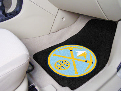 "NBA Officially licensed products Denver Nuggets 2-pc Carpeted Car Mats 17""x27"" Show your fandom even while driving with Carp"