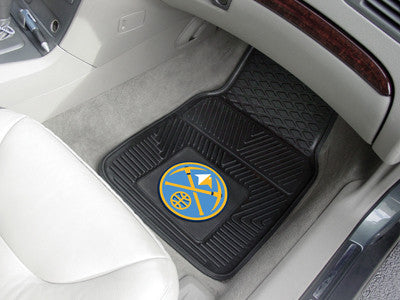"NBA Officially licensed products Denver Nuggets 2-pc Vinyl Car Mats 17""x27"" Add style to your ride with heavy duty Vinyl Car"