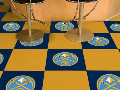 "NBA Officially licensed products Denver Nuggets 18""x18"" Carpet Tiles Want to show off your team pride in a big way? Carpet T"
