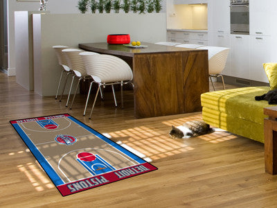 NBA Officially licensed products Detroit Pistons Large Court Runner 29.5x54 Support your favorite NBA team with these large