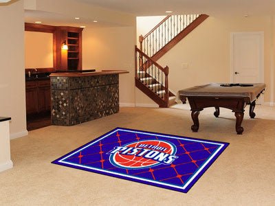 NBA Officially licensed products Detroit Pistons 5'x8' Rug Show off your team pride in a big way! 5'x8' ultra plush area rug