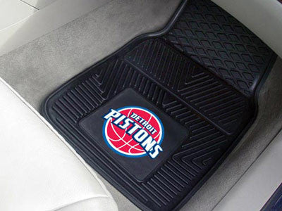 "NBA Officially licensed products Detroit Pistons 2-pc Vinyl Car Mats 17""x27"" Add style to your ride with heavy duty Vinyl Ca"