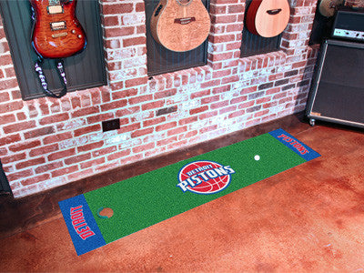 "NBA Officially licensed products Detroit Pistons Putting Green Runner 18""x72""  Become a pro and perfect your short game with"