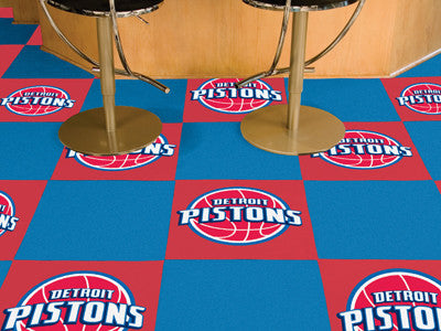 "NBA Officially licensed products Detroit Pistons 18""x18"" Carpet Tiles Want to show off your team pride in a big way? Carpet"