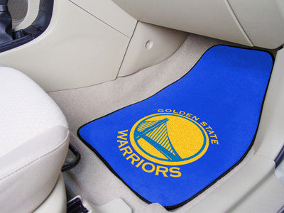 "NBA Officially licensed products Golden State Warriors 2-pc Carpeted Car Mats 17""x27"" Show your fandom even while driving wi"