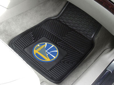 "NBA Officially licensed products Golden State Warriors 2-pc Vinyl Car Mats 17""x27"" Add style to your ride with heavy duty Vi"