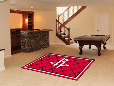 NBA Officially licensed products Houston Rockets 5'x8' Rug Show off your team pride in a big way! 5'x8' ultra plush area rug