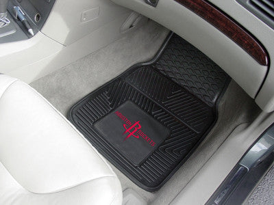 "NBA Officially licensed products Houston Rockets 2-pc Vinyl Car Mats 17""x27"" Add style to your ride with heavy duty Vinyl Ca"