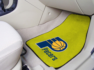"NBA Officially licensed products Indiana Pacers 2-pc Carpeted Car Mats 17""x27"" Show your fandom even while driving with Carp"