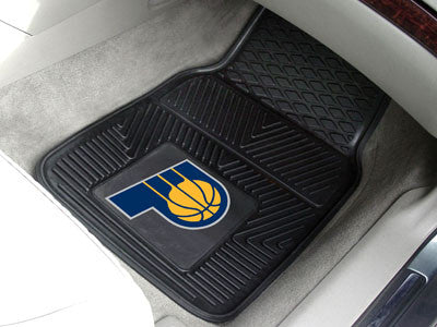 "NBA Officially licensed products Indiana Pacers 2-pc Vinyl Car Mats 17""x27"" Add style to your ride with heavy duty Vinyl Car"