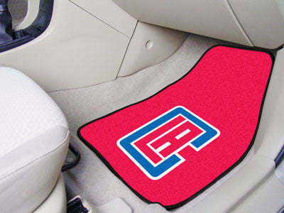 "NBA Officially licensed products Los Angeles Clippers 2-pc Carpeted Car Mats 17""x27"" Show your fandom even while driving wit"