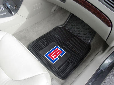 "NBA Officially licensed products Los Angeles Clippers 2-pc Vinyl Car Mats 17""x27"" Add style to your ride with heavy duty Vin"