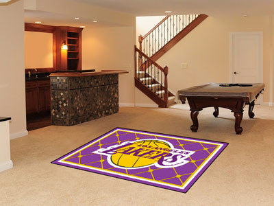 NBA Officially licensed products Los Angeles Lakers 5'x8' Rug Show off your team pride in a big way! 5'x8' ultra plush area