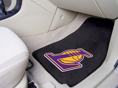 "NBA Officially licensed products Los Angeles Lakers 2-pc Carpeted Car Mats 17""x27"" Show your fandom even while driving with"