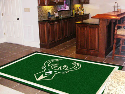 NBA Officially licensed products Milwaukee Bucks 5'x8' Rug Show off your team pride in a big way! 5'x8' ultra plush area rug