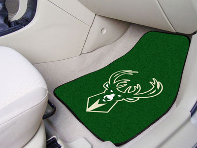 "NBA Officially licensed products Milwaukee Bucks 2-pc Carpeted Car Mats 17""x27"" Show your fandom even while driving with Car"