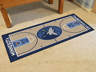 NBA Officially licensed products Minnesota Timberwolves NBA Court Large Runner Support your favorite NBA team with these lar