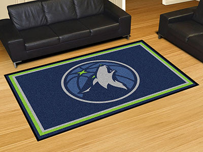 NBA Officially licensed products Minnesota Timberwolves 5'x8' Rug Show off your team pride in a big way! 5'x8' ultra plush a