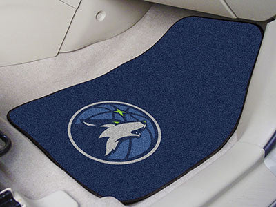 "NBA Officially licensed products Minnesota Timberwolves 2-pc Carpeted Car Mats 17""x27"" Show your fandom even while driving w"