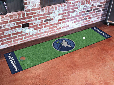 "NBA Officially licensed products Minnesota Timberwolves Putting Green Runner 18""x72""  Become a pro and perfect your short ga"