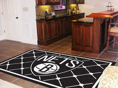NBA Officially licensed products Brooklyn Nets 5'x8' Rug Show off your team pride in a big way! 5'x8' ultra plush area rugs