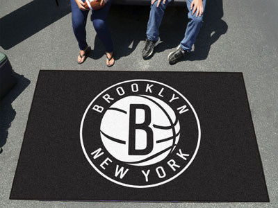 NBA Officially licensed products Brooklyn Nets Ulti-Mat 5'x8' Start showing off your team pride with an Ulti-Mat from Sports