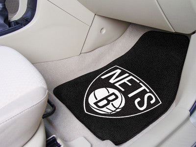 "NBA Officially licensed products Brooklyn Nets 2-pc Carpeted Car Mats 17""x27"" Show your fandom even while driving with Carpe"