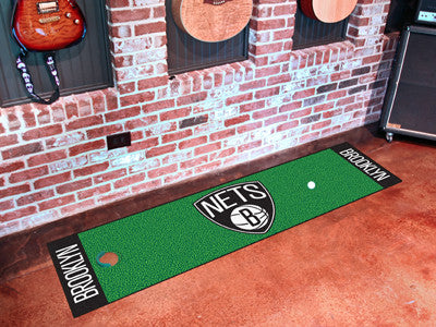 "NBA Officially licensed products Brooklyn Nets Putting Green Runner 18""x72""  Become a pro and perfect your short game with G"