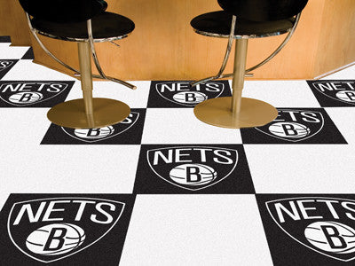 "NBA Officially licensed products Brooklyn Nets 18""x18"" Carpet Tiles Want to show off your team pride in a big way? Carpet Ti"