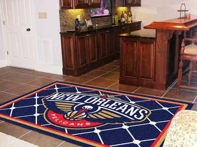 NBA Officially licensed products New Orleans Pelicans 5'x8' Rug Show off your team pride in a big way! 5'x8' ultra plush are