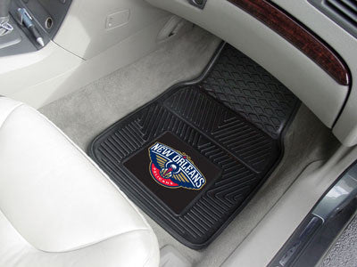 "NBA Officially licensed products New Orleans Pelicans 2-pc Vinyl Car Mats 17""x27"" Add style to your ride with heavy duty Vin"