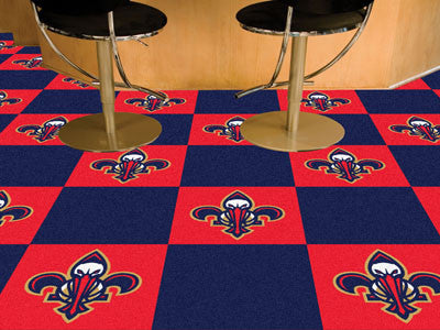 "NBA Officially licensed products New Orleans Pelicans 18""x18"" Carpet Tiles Want to show off your team pride in a big way? Ca"