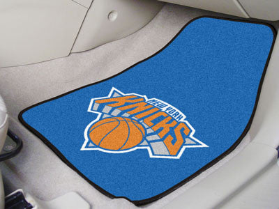 "NBA Officially licensed products New York Knicks 2-pc Carpeted Car Mats 17""x27"" Show your fandom even while driving with Car"