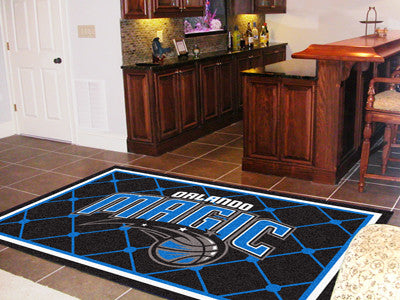 NBA Officially licensed products Orlando Magic 5'x8' Rug Show off your team pride in a big way! 5'x8' ultra plush area rugs