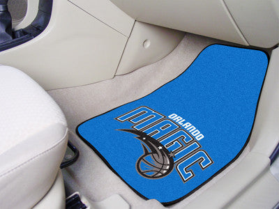 "NBA Officially licensed products Orlando Magic 2-pc Carpeted Car Mats 17""x27"" Show your fandom even while driving with Carpe"