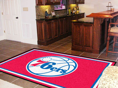 NBA Officially licensed products Philadelphia 76ers 5'x8' Rug Show off your team pride in a big way! 5'x8' ultra plush area