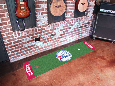 "NBA Officially licensed products Philadelphia 76ers Putting Green Runner 18""x72""  Become a pro and perfect your short game w"