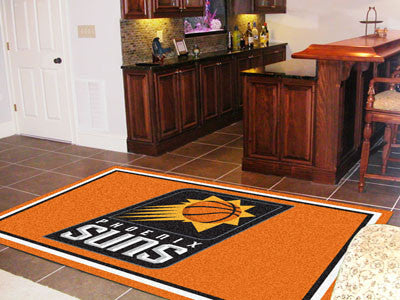 NBA Officially licensed products Phoenix Suns 5'x8' Rug Show off your team pride in a big way! 5'x8' ultra plush area rugs w