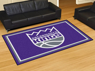 NBA Officially licensed products Sacramento Kings 5'x8' Rug Show off your team pride in a big way! 5'x8' ultra plush area ru